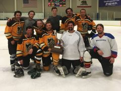 Congratulations to the – – – Sierra-at-Tahoe Lagers!!! – – – They are the winners of the B League Adult Hockey  Championship 2018. If you are and interested in playing Adult Hockey please contact rich@tahoearena.com.
