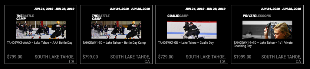 Pro Ambitions Hockey Lake Tahoe Summer Camps 2019