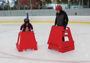 Skate Helper at Lake Tahoe Ice Arena for kids and adults, beginner skaters welcome